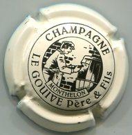 CAPSULE-CHAMPAGNE LE GOUIVE P & F N°04a Blanc Cassé Et Noir - Altri