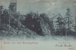 Mondschein-Gruss Aus Dem Riesengebirge, Der Hochstein Gl1898 #F2224 - Schlesien