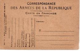 FRANCE / ENTIER POSTAUX / CARTE POSTALE CORRESPONDANCE DES ARMEES DE LA REPUBLIQUE CARTE NEUVE - Postmark Collection (Covers)