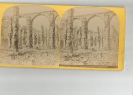 75 Carte Stereoscopique Paris Ruines De Paris Interieur Des Greniers D'Abondance - Stereoscopio