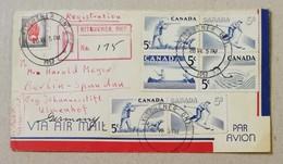 Raccomandata Per Via Aerea Kitchener-Berlino - 26/07/1957 - Recomendados