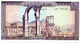 LIBAN Billet 10 Livres - Banque Du Liban - Liban