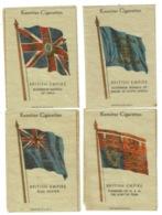 Ref 1334 - 4 Different Kensitas Cigarette Silks Cards - British Empire Flags (2) - Other