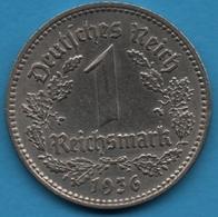 DEUTSCHES REICH  1 Reichsmark 1936 A  KM# 78 - [ 4] 1933-1945 : Troisième Reich
