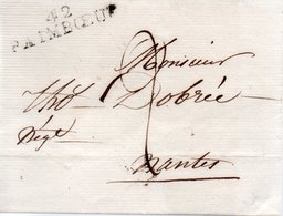 FRANCE / MARQUE POSTALE LINEAIRE DE PAIMPBOEUF 42 (Loire-Atlantique) - 1792-1815: Veroverde Departementen