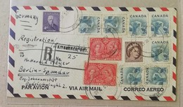 Raccomandata Per Via Aerea Kitchener-Berlino - 21/11/1955 - Recomendados