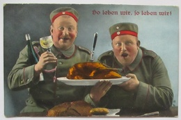 Essen, So Leben Wir, Musketen Ers. K. 117. Mainz 1916 (47163) - Guerre 1914-18