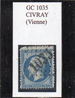 Vienne - N° 22 (ld) Obl GC 1035 Civray - 1862 Napoléon III