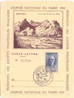 FRANCE  JOURNEE NATIONAL DU TIMBRE FANTASTIC 1943  (FEB200357) - Esposizioni Filateliche