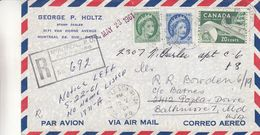 Canada - Lettre Recom De 1961. - Oblit Montreal - Exp Vers Baltimore - - 1952-.... Regno Di Elizabeth II