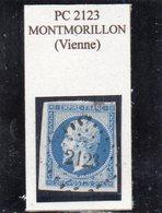 Vienne - N° 14A (ld) Obl PC 2123 Montmorillon - 1853-1860 Napoleon III