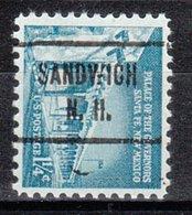 USA Precancel Vorausentwertung Preo, Locals New Hampshire, Sandwich 721 - Vereinigte Staaten