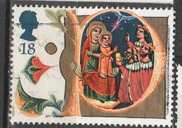 """PIA - GRAN BRETAGNA : 1991 :  Natale : Lettera P """"Adorazione Dei Magi"""" Da Un Manoscritto Del XIV° Secolo   -  (YV  1574) - Cristianesimo"""