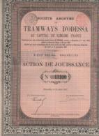 RUSSIE-TRAMWAYS D'ODESSA. SA DES ... Action De Jouissance   1881 - Shareholdings