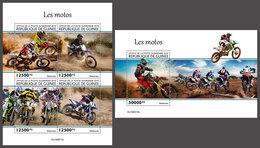 GUINEA 2019 - Motocross. M/S + S/S. Official Issue [GU190517] - Guinée (1958-...)