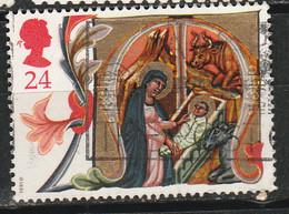 PIA - GR.BRET : 1991 : Natale  Lettera  M - Maria E Gesù Nella Culla Da Un Manoscritto Del XIV° Sec.    -  (YV  1575) - Cristianesimo
