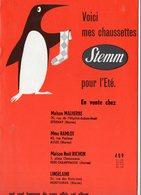 Roubaix : (59 Nord) Catalogue CHAUSSETTES STEMM été Laines Du Pingouin 1957 (PPP11678) - Publicités