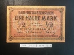 OBER OST - 1/2 Mark 1918 - Eerste Wereldoorlog