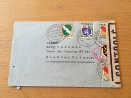 SCHW665 Zone Francaise 1946 Lettre D'Ebingen Avec Censure Pour Genéve - Zona Francese