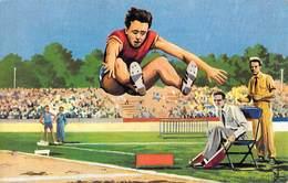SPORT Saut En Longueur Messieurs - Carte Olympic Flash N°8 ( Editions  Chewing Gum WELCOME TARZAN Et JOHNNY)*PRIX FIXE - Leichtathletik