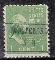 USA Precancel Vorausentwertung Preo, Locals New Hampshire, Wolfeboro 482 - United States