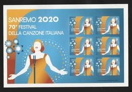 ITALIA 2020 - 70° Festival Della Canzone Italiana A Sanremo - Mini FOGLIO ** Senza Codice A Barre - Blocchi & Foglietti