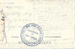 83-cachet Croix-Rouge- Comité De St Raphaël-manuscrit: Hôpital N°44 à Bouloures Sur Belle CP En 1917 - Guerre De 1914-18