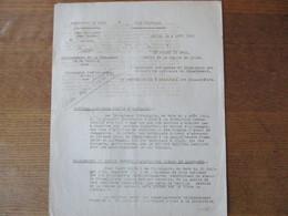 ETAT FRANCAIS LILLE LE 6 AOÛT 1943 LE PREFET DU NORD CIRCULAIRE RATIONNEMENT DE LA CHAUSSURE ET DU TEXTILE - Historische Dokumente
