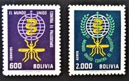 ERADICATION DU PALUDISME 1962 - NEUFS ** - YT 434 + PA 226 - MI 688/89 - Bolivie