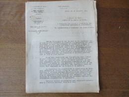 ETAT FRANCAIS LILLE LE 5 OCTOBRE 1943 LE PREFET DU NORD CIRCULAIRE RATIONNEMENT DU TEXTILE VÊTEMENTS DE TRAVAIL 6 PAGES - Historische Dokumente