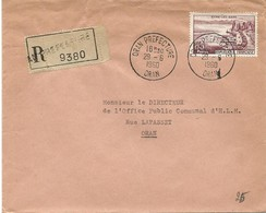 Algérie LR YT 1193 Oran Prefecture 29/06/60 - Covers & Documents