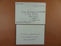 ETATS UNIS Jacqueline Kennedy, Enveloppe En Franchise Présidentielle 1964 - Vereinigte Staaten