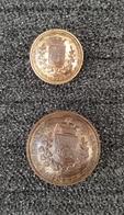 Lots De 2 Anciens Boutons Des Sapeurs Pompiers De Paris 1900 - 1914 - Buttons