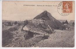 02 ETREILLERS Ruines De L'hospice , Marcophilie Tampon Etreillers 1929 - Other Municipalities