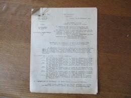 ETAT FRANCAIS LILLE LE 29 DECEMBRE 1943 LE PREFET DU NORD CIRCULAIRE N° 93 RATIONNEMENT DU TEXTILE 9 PAGES - Historische Documenten