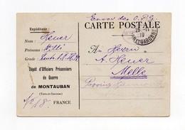!!! PRISONNIER ALLEMAND EN FRANCE, AVIS DE RECEPTION D'UN COLIS AU DEPOT DE MONTAUBAN DU 26/11/1919 - Guerre De 1914-18