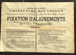88 - Vosges - Bellefontaine - Fixation D'Alignement - Gondrecourt -Oderen - Corravillers - Affiches