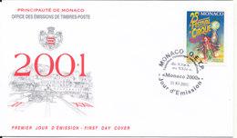 Monaco FDC 3-12-2000 International Circus Festival With Cachet - FDC