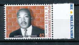 [810408]RD CONGO 2001 - N° 1895, Martin Luther King, Célébrité, Paix.SNC. - Martin Luther King