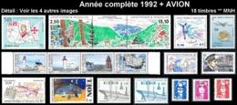 ST-PIERRE ET MIQUELON Année Complète 1992 + AVION - Yv. 555 à 571 + PA71 ** MNH  Faciale= 12,50 EUR - 18 Tp ..Réf.SPM117 - St.Pierre & Miquelon