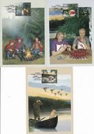 FINLAND 2010 Autumn: Set Of 3 Maximum Cards 2054-2056 / Y&T 2020-2022 - Maximumkaarten