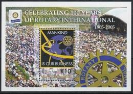 2005Papua New Guinea1122/B32100 Years Of Rotary7,00 € - Papua Nuova Guinea