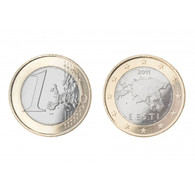 Estonia 1 Euro 2011 - First Year Of Euro In Estonia UNCIRCULATED From Mint Roll - Estland