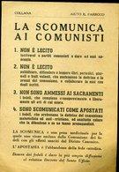 SP111 VOLANTINO ANTICOMUNISTA  LA SCOMUNICA AI COMUNISTI , COLLANA AIUTA IL PARROCO , PRIMI ANNI 50 - Documents Historiques
