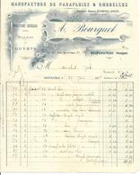 88 - Vosges - Neufchateau - Facture Manufacture De Parapluies Et Ombrelles - Vieux Papiers