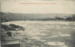 ELBEUF - Hiver 1917, La Seine Et Les écluses De Martot, Péniche.. - Elbeuf