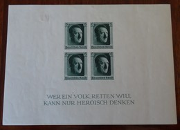 #581# GERMANY III REICH MICHEL BL 8, YVERT BF 9 MH*. - Bloques