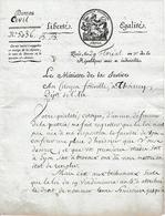 Floréal An 7 (1799) L.S. Charles, Comte LAMBRECHTS Comme Ministre De La Justice Au Citoyen FONVILLE à THOISSEY (01) - Documenti Storici