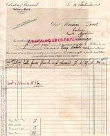 87- BELLEIX PAR BLOND- BERBEUIL-  RARE FACTURE VALENTIN & BERNARD- MINOTERIE MEUNIER FARINE- 1910 - Artesanos