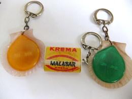 Année 60 3 Portes Clés Plastique Confiserie KREMA - ROC-DOU - Porte-clefs